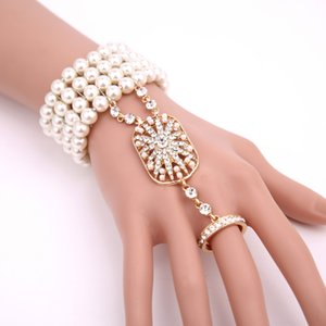 The Great Gatsby Hand Jewelry Integrated Chain Yiwu Small Commodity Accessories Accessory The Great Gatsby Hand Jewelry Ring Integrated Chai