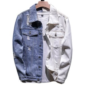 5XL Denim Jacket Men Outono Inverno Moda Patchwork Casual Turn-Down Collar Denim Jackets Brasão Streetwear Masculino roupas tamanho grande