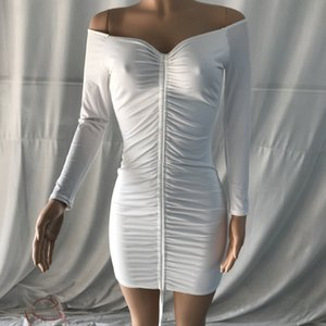 3ZN2F yeni 2020 omuz uzun pilili kadın Sonbahar / Kış Kadın yeni kalça kaplı etek tek satırlık gWK5i etek omuz sleeve