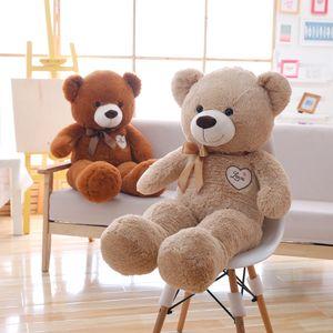 Miaoowa 1PC 90cm Belle Ours en peluche avec Bowknot Peluche Toy Soft Animal Bear Jouets pour enfants Poupée de dessin animé farcie pour cadeau de filles