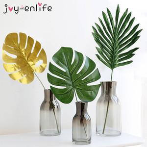 JOY-ENLIFE 5шт ткани Искусственный пальмовых листьев Гавайских Луо джунглей Пляж тематическая вечеринка Главная украшения сада