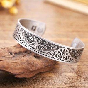 Viking Life Tree Enjected Magnetic Health Braccialetto aperto per gioielli da uomo1