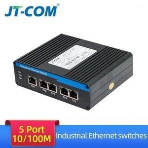 5/8 Portas Interruptor Ethernet Industrial 100 / 1000Mbps Gigabit Network Switch DIN TIPO DE RÁPIDO Network LAN Adaptador Sinal Fortalecimento1
