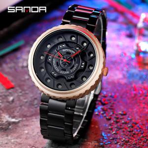 SANDA 2020 New Design Men's Watches Fashion Quartz Watch For Men Steel Straps Men's Wristwatch Casual Sport relojes para hombre