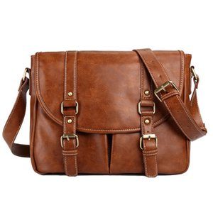 Messenger Bag Men Leather Leather Briefcases Men Bag For Man LJ201012