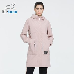 İcebear Yeni Coat Uzun Ceket Kalite parka Moda Günlük Marka Kadınlar Giyim GWC20727I 201015