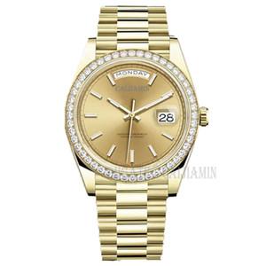 caijiamin-U1 Quality Mens Automatic Mechanical Watch Diamond Watches 41mm Stainless Steel Wristwatches waterproof Luminous Women Watches