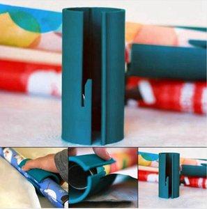 Papel de envolver Regalo de navidad cortador de rollo de papel de corte Herramienta regalo duradero envoltorio de plástico Tijeras de corte Accrssories MAR ENVÍO LJJP639