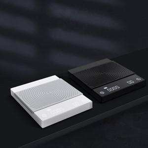 LED-Smart-Digital-Skala Gießen Kaffee Elektronische Drip Kaffeekanne mit Timer 2 KG Schwarz Basic Kaffee Skala-Küche