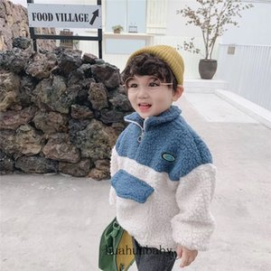 Children's Lamb Coat Down Turtleneck Thicken Kid's Pullover Coat Autumn And Winter Keep Warm Baby Wool Coat