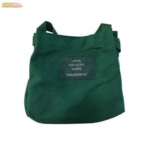 Women Version Canvas Shoulder Bag Messenger Bag Student Art Joker Large Capacity Shoulder Bag School A30