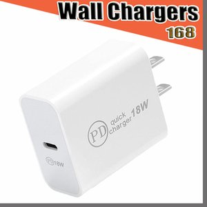 168D USB C Wall Charger 18W Power Delivery PD Quick Charger Adapter TYPE C Charger Plug Fast Charging for smart phone without Box