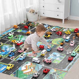 Baby Play Mat Road Carpet for Kids Cartoon Traffic Rug Little Boys and Girls Indoor Toys Playmat Babies Playing Educational Mat