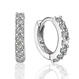 Orecchini in argento sterling 925 orecchini a cerchio con gioielli di moda zircone regalo di fidanzamento per le donne spedizione gratuita buona qualità