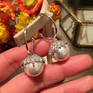 Diamond Lace Elegant Pendientes de perlas Nueva Moda Diseñador de lujo Diseñador Clip en pendientes para mujer Girls S925 Silver Post