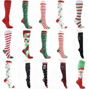 2021 Noel Yetişkinler Uzun Çorap Karikatür Kardan Adam Çizgili Baskılı Kadın Erkek Moda Noel socking Yaratıcı Sporları Kış Ev Giyim E101601