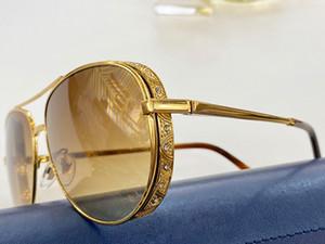2020 popular new Style Full Rim Pilot SunGlasses Hot SCH47 delicate Unisex Fashion glasses designer Metal Sun Glasses driving glasses