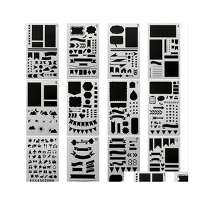 20pcs set bullet journal stencil set,diy painting drawing spraying templates for notebook diary scrapbook planner schedule craft u8yc2