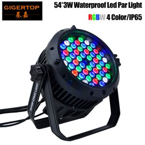 Tiptop 54x3W RGBW LED PAR 64 Tipo impermeabile leggero, DMX 512,8CANNELS LED PAR lattine, IP 65 Tasso LED Light Light 90V-240V PAR