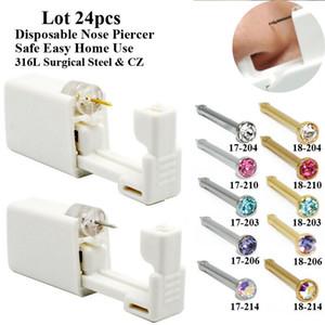 CHUANCI Lot 24pcs Disposable Nose Piercing Unit Nose Piercing Gun Nose Piercer wholesale