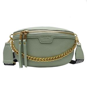 مصمم المرأة PU الجلود سلسلة فاني حزمة Bananka على حزام الأزياء وايلد حقيبة المرأة البطن الفرقة الخصر حقيبة Q1104