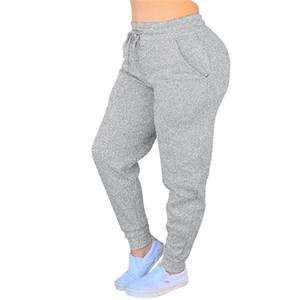 Mulheres Sport calças de jogging Yoga Leggings Drawstring Pants Senhoras Calças Atlético cor sólida Exercício lápis Pant Casual Sweatpants F110604