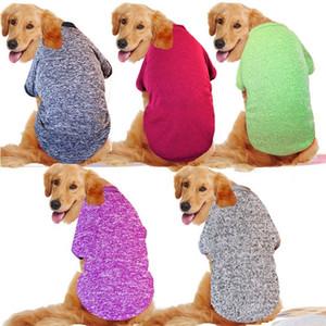 3XL-9XL Big Dog Abbigliamento Inverno Grande taglia Pet Abbigliamento Golden Retriever Dog Cappotti Solid Felpa per cani Animali costume