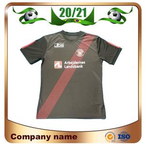 Maillots de Fútbol 20/21 Midtjyland Soccer Jersey 2021 Black Denmark Club FC Midtjylland Camisetas de fútbol de manga corta Uniforme