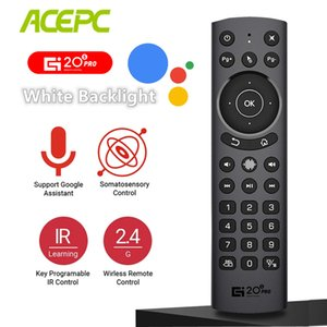 G20S Pro Voice Backlit Smart Air Mouse Gyro IR Learning Google Assistant 2.4G Wireless Remote Control For TV BOX H96 X96 MAX Plu