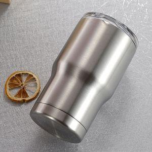 14Oz Kinder Tumbler Deckel Kaffee Milch Becher 304 Edelstahl Doppel Wand Vakuum Isolierte Bierbecher Drink Outdoor Auto Tumbler VTKY2147