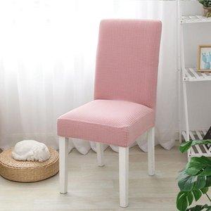Elastic Cozinha / Sala de Jantar Cadeira Cover, estiramento Spandex Covers Desk Assento para Cadeiras Slipcover Caso Jacquard para sala de estar