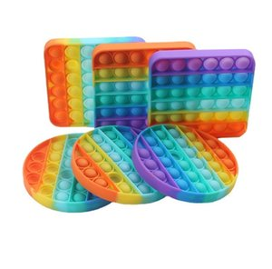 Продажа Push Silicone Sensosy Fidge Игрушка сжимает стресс с рельефом Bubble Game Gradient Push Squeeze Toys Table Game G10701