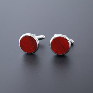 Environment friendly wooden high end suit shirt cufflinks wholesale custom high quality sleeve button mens accessories