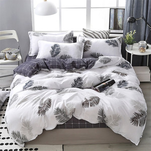Lanke Cotton Bedding Sets, Home Textile Twin King Queen Size Bed Set Bedclothes with Bed Sheet Comforter set Pillow case 201210