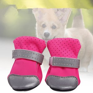 Ventilate pet dog shoes soft boots with safe reflective stripe soft shoe sole comfortable dog apparel for Teddy Bichon pet DDC1043