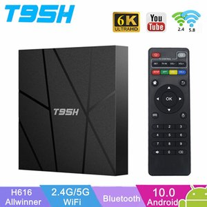 T95H Android 10 TV BOX Allwinner H616 4G RAM 32GB ROM 2.4G 5G Wifi Bluetooth Youtube Netfilx Google 6K Set Top Box