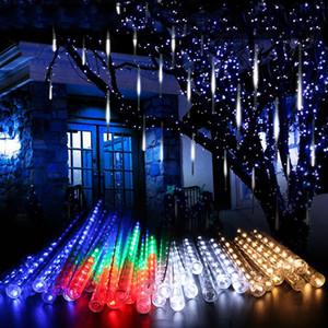 30 см 50 см водонепроницаемый метеорной душ дождевые трубки светодиодное освещение для вечеринки свадебное украшение рождественские праздник светодиодный метеор