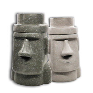 Easter Island MOAI Stone Man Farmer With Piggy Bank Tissue Paper Multi-Purpose Cardboard Box Z0122