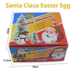 Growing Magie Wonderful Christmas Weihnachtsmann Schneemann Osterei pädagogisches Spielzeug Neuheit Weihnachten Kinder Geschenk 6 Farben Aufgeblasen LA207