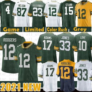 12 Aaron Rodgers 33 Jones Davante Adams Football Jersey 10 Love Darnell Savage JR Argilla Matthews Kevin King Bart Starr Jaire Alexander Favre