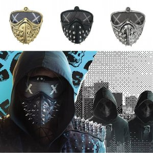 Punk Devil Mask Death Smower Reaper Cosplay Rivet Halloween Maskerade Masken