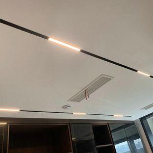 LED Embedded installation Magnet Track Lights DC48V 24W LED Lamps Magnetic Rail Ceiling System For Indoor Track Lighting
