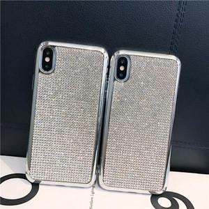 Блеск Покрытие Soft TPU Полный Алмазный Bling чехол для iPhone 12 Mini 11 Pro Max XS XR X 7 8 6 6S SE2 Samsung S8 S9 S10 Plus S10e S20 Ультра