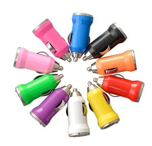 For Iphone USB Car Charger Colorful Bullet Mini Car Charge Portable Charger Universal Adapter 5V 1A For Iphone Samsung