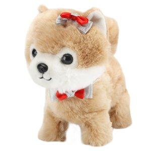 Teddy Teddy Dog Dog Teddy Jouets de chien Interactive Electronic Peluche Animal Pet Jouet Jouet Halk Bark Laisse Teddy Toys pour enfants 1020