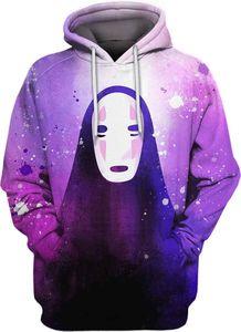 Sweater Halloween Costumes Spiritué Elevé 3D Print Sweats à capuche Hommes Sweat Sweatshirt Chihiro / No Face Man / Dragon Blanc S-5XLPW4K