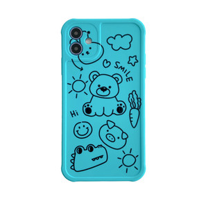 3D Kawaii Little Bear Couple Case For Iphone 12 MINI 11 Pro Max Xs MAX XR X 8 7 Plus SE2 Phone Girls Cases Back Cover