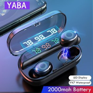 YABA V10 8D drahtloser Kopfhörer Bluetooth Kopfhörer Sports Earbuds LED-Anzeige Touch Control Stereo Headset mit Mikrofon