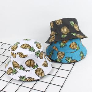 Chapeau ananas Printemps Eté 2020 Accessoires Mode Bucket Hat Hip Hop japonaise Harajuku Unisex Pêcheur Femmes