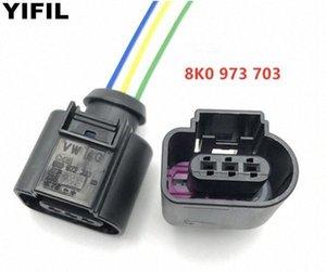 3 Pin compresor del aire acondicionado Interruptor de presión del sensor de presión de admisión del enchufe del conectador del alambre del cable flexible de conexión para VW 8K0973703 coche BRWR #
